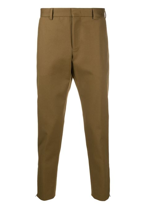 unlined hazelnut-colored high-waisted trousers in stretch cotton, zip closure and two side welt pockets PT01 |  | COASEPZ10KLT-BP400090