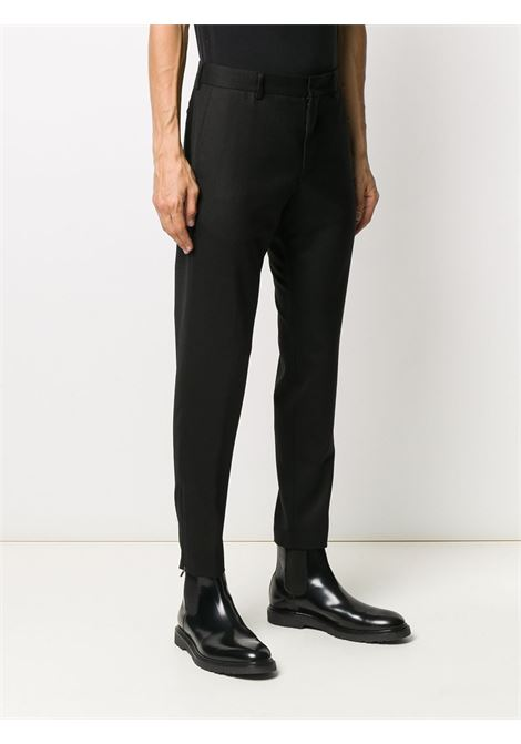 Black virgin wool blend tapered-leg tailored trousers  PT01 |  | COASEPZ10KLT-PO630990