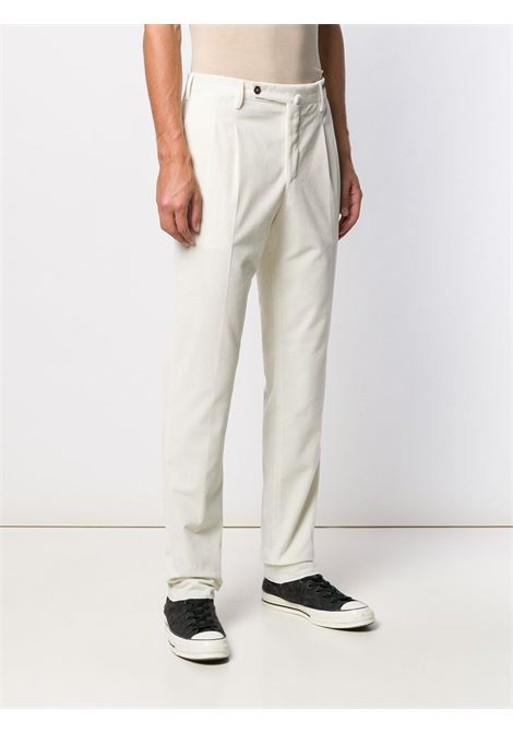 White stretch cotton corduroy slim-fit trousers featuring mid-rise PT01 |  | COHS22ZS0CL2-PG910010