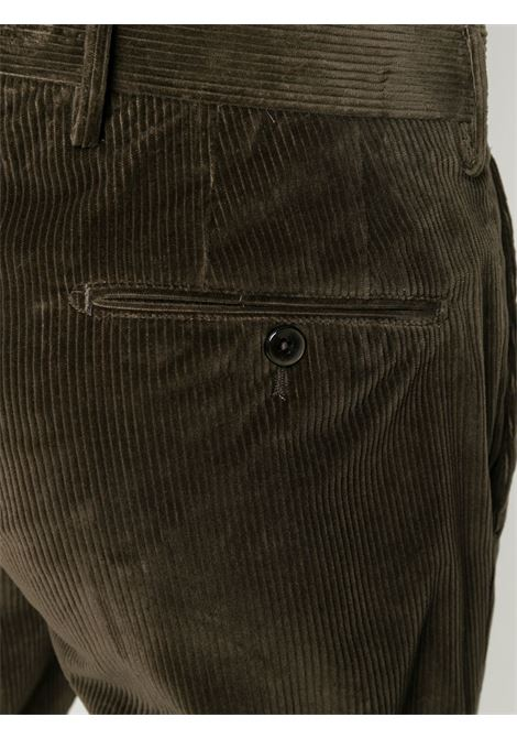 Corduroy velvet forest green trousers with double front pence  PT01 |  | COHS22ZS0CL2-PG910125