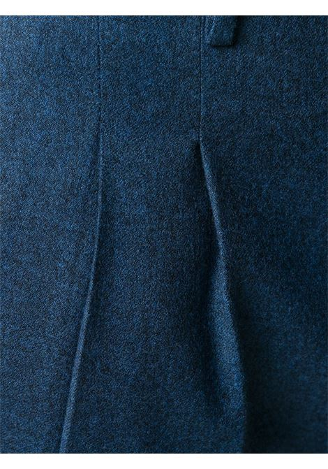 Straight avion blue trousers in wool with double front pence  PT01 |  | COHS22ZS0CL2-RE840345