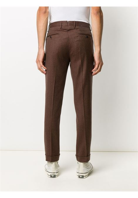 Straight trousers with double pence in brown wool with turn-up PT01 |  | COHS22ZS0CL2-RE840850