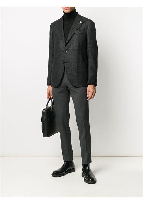 Pantaloni sartoriali slim fit in misto lana grigio antracite PT01 | Pantaloni | COKSTVZ00TVL-PO360240