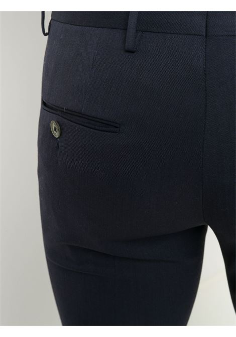 Pantaloni chino slim fit in misto lana blu scuro PT01 | Pantaloni | COKSTVZ00TVL-PO360340
