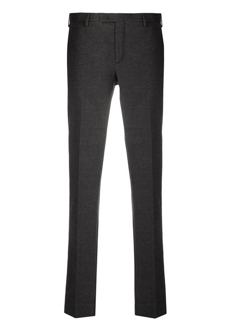 Anthracite grey cotton trousers with micro-check pattern PT01 |  | COKSZEZ00CL1-BB310260