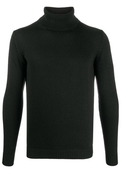 Maglione collo alto in lana merino nera con collo alto ROBERTO COLLINA | Maglieria | RD0200309