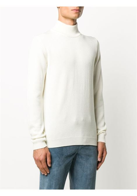 Maglia a collo alto in lana mohair ecrù ROBERTO COLLINA | Maglieria | RD0270302