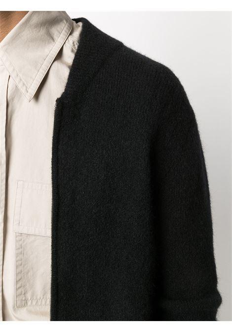 Black alpaca wool cardigan featuring zip fastening ROBERTO COLLINA      RD1400809