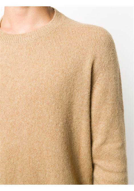 Camel-colour merino-camel hair blend textured crew-neck ROBERTO COLLINA |  | RD4010105