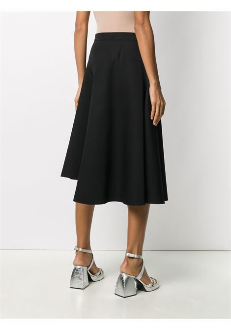 Flared asymmetrical black skirt  ROCHAS |  | ROPR3503A-RR001001