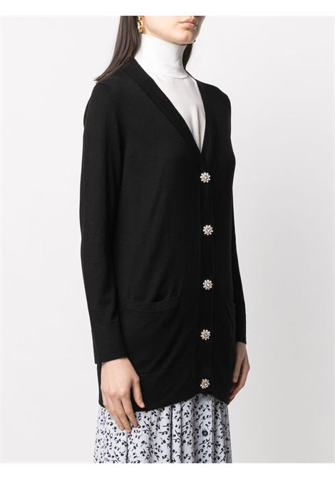 cardigan con scollo a V in misto seta e cashmere nero SNOBBY SHEEP | Cardigan | 20X.80115999