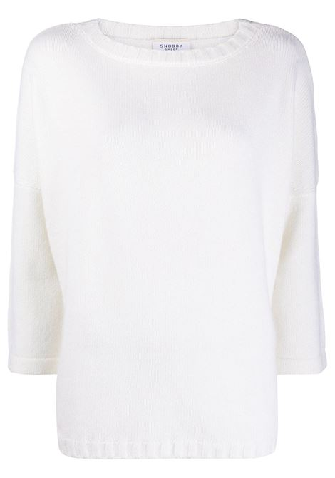 white wool-cashmere blend bracelet-sleeve loose fit sweater  SNOBBY SHEEP |  | 20X.80920001