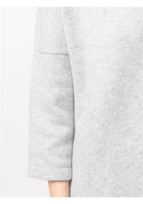 cloud grey wool-cashmere blend bracelet-sleeve loose fit sweater featuring knitted construction SNOBBY SHEEP |  | 20X.80920730