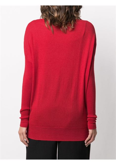 red silk-cashmere blend Grace dolman-sleeve sweater  SNOBBY SHEEP |  | 20X.GRACE330