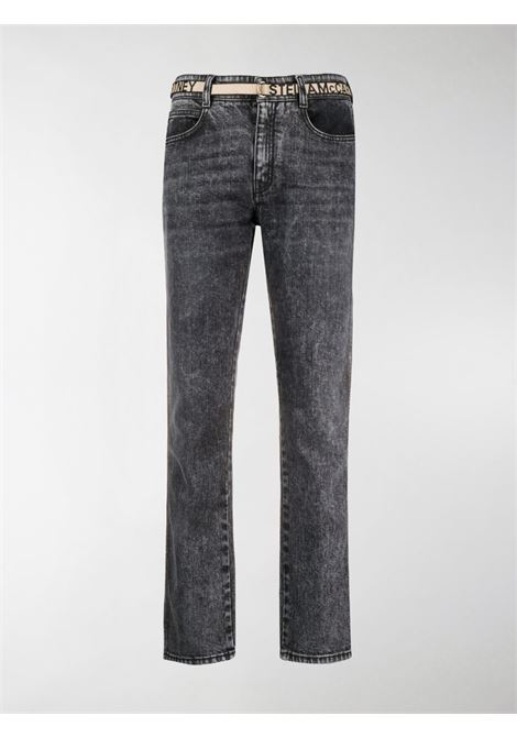 acid-wash eco-cotton black straight-leg jeans  STELLA MC CARTNEY |  | 372773-SOH051013
