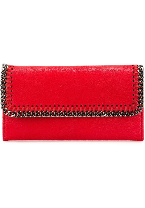red eco-leather Falabella flap wallet featuring silver chain STELLA MC CARTNEY |  | 430999-W91326501