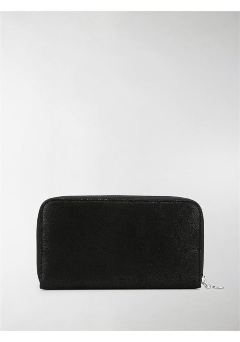black Falabella continental wallet crafted in faux leather with a signature diamond-cut chain  STELLA MC CARTNEY |  | 434750-W91321000