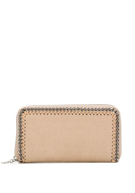 beige Falabella continental wallet featuring an all around gold zip fastening STELLA MC CARTNEY |  | 434750-W91329300