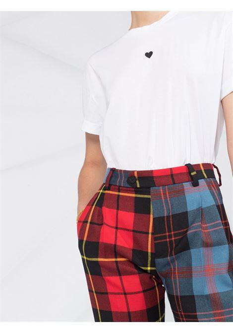 t-shirt a maniche corte in cotone bianco con cuoricino stampato nero STELLA MC CARTNEY | T-shirt | 457142-SOW179000