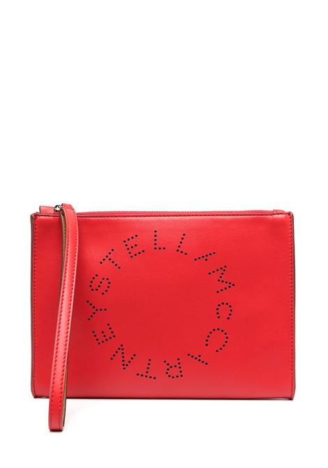 pochette rossa in ecopelle con logo Stella McCartney traforato STELLA MC CARTNEY | Clutch | 502892-W85426506