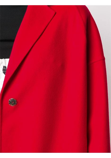 Red wool single-breasted coat with notched lapels, front button fastening STELLA MC CARTNEY |  | 573928-SPB056506