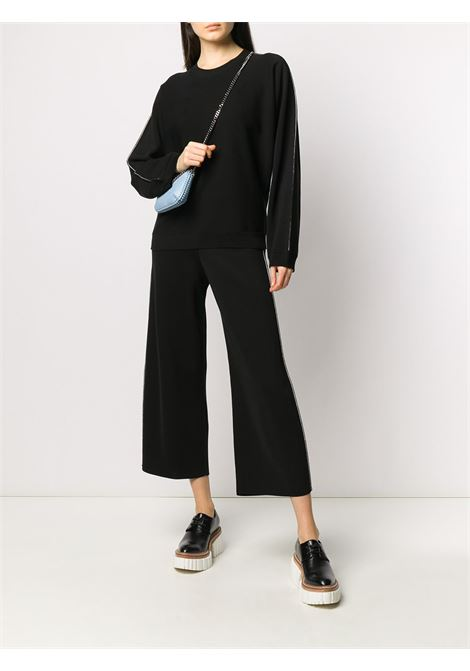 Black cotton-blend trousers featuring knitted construction STELLA MC CARTNEY |  | 601730-S21981000