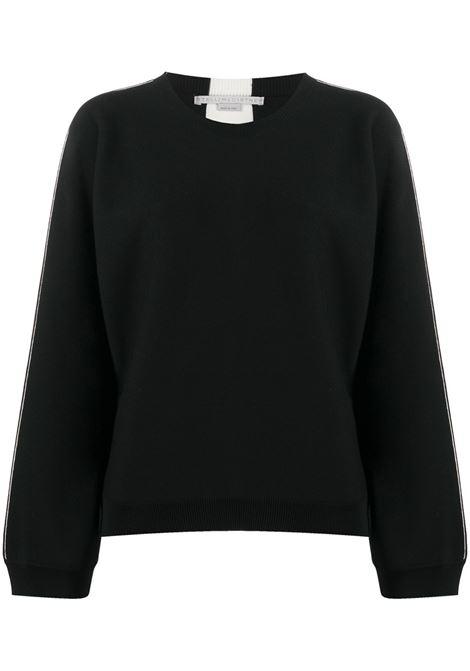 Black cotton-blend jumper featuring side white stripe detailing STELLA MC CARTNEY |  | 601731-S21981000
