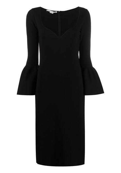 Black jersey midi dress featuring bell sleeves STELLA MC CARTNEY |  | 601756-S20561000