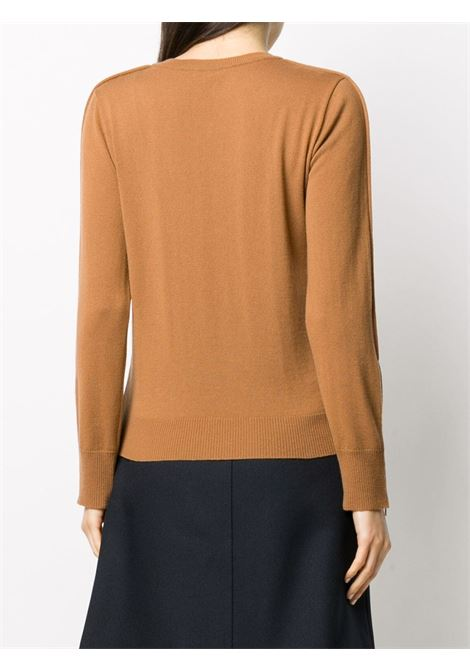 Camel brown virgin wool asymmetric seam-detail jumper STELLA MC CARTNEY |  | 601769-S22072742