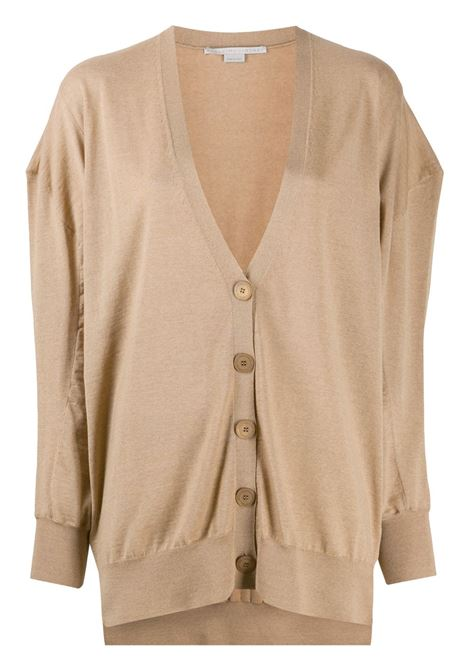 Camel brown virgin wool oversized cardigan featuring V-neck STELLA MC CARTNEY |  | 602030-S17352742