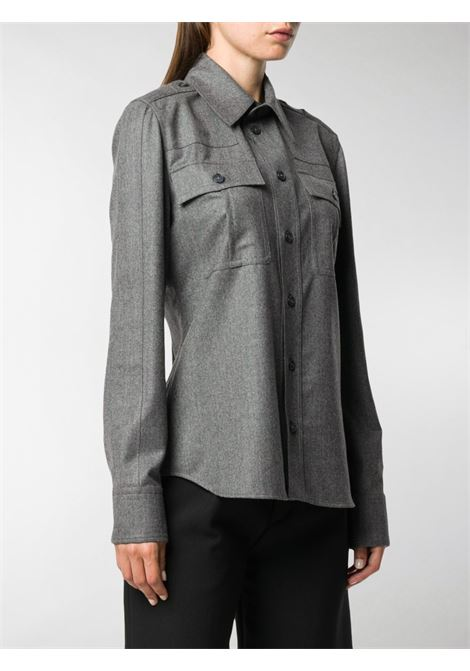 Camicia Hill in misto lana grigio melange con colletto classico STELLA MC CARTNEY | Camicie | 602108-SNB531262