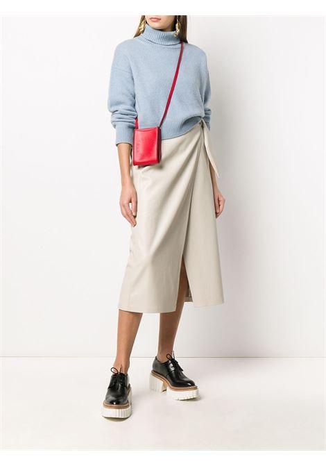 Red faux leather mini crossbody bag  featuring perforated Stella McCartney logo detail STELLA MC CARTNEY |  | 700136-W85426506