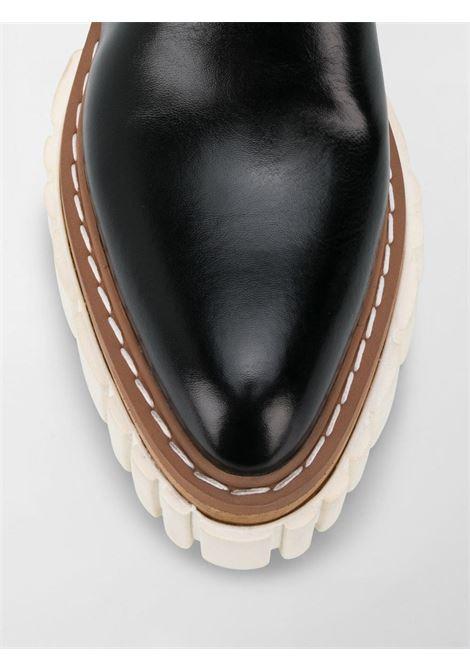Scarpe con zeppa stringate Emilie in ecopelle nera STELLA MC CARTNEY | Stringate | 800268-W0U701002