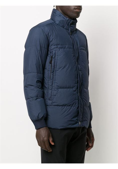 Blue feather down high neck puffer jacket featuring high neck STONE ISLAND |  | 731540123V0028