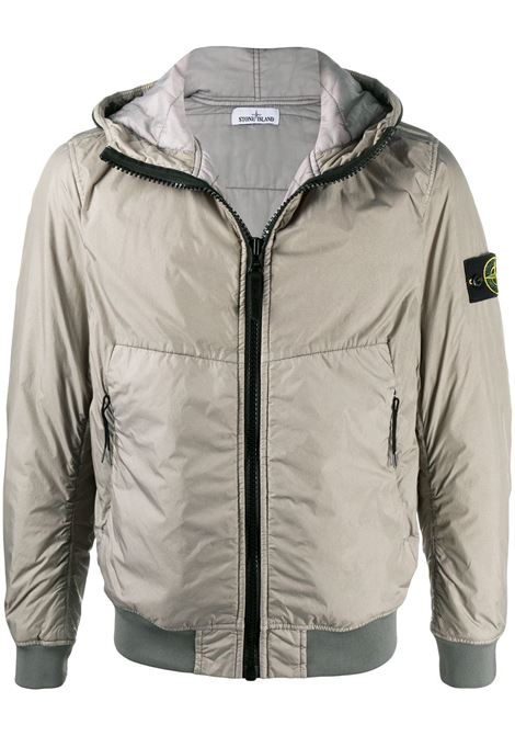 Grey zip-up hooded jacket featuring Stone Island logo patch to the side STONE ISLAND |  | 731540423V0068