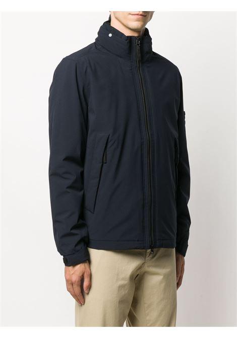 Giubbino blu con zip e cappuccio staccabile STONE ISLAND   Giubbini   731541527V0020