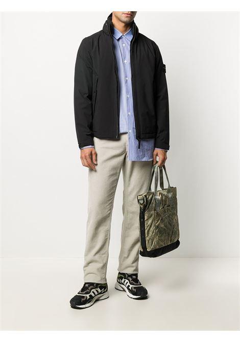 Giubbino nero con zip e cappuccio staccabile STONE ISLAND | Giubbini | 731541527V0029