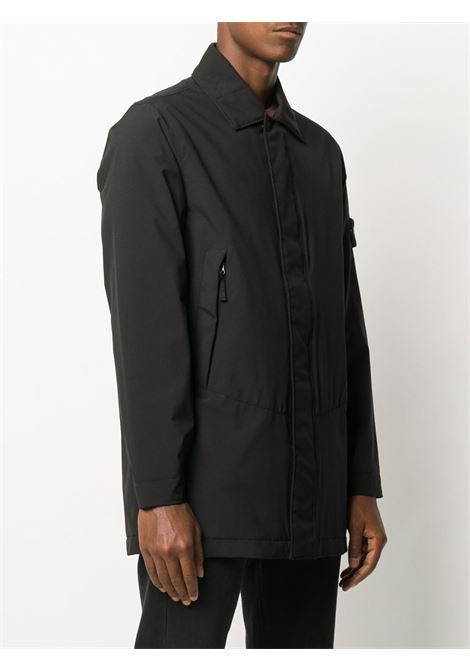Black long jacket featuring Stone Island logo patch  STONE ISLAND |  | 731541727V0029