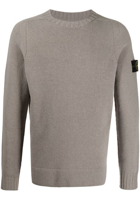 Grey ribbed knit jumper  featuring crew neck STONE ISLAND |  | 7315505A3V0068