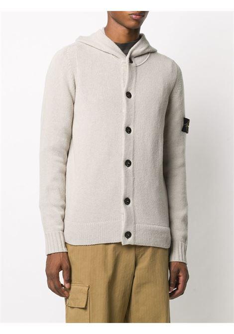 cardigan con cappuccio in misto lana beige STONE ISLAND | Cardigan | 7315506A3V0092