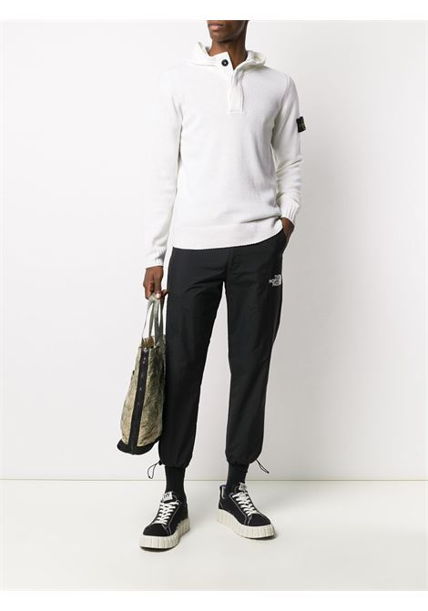 white wool blend knit jumper featuring polo collar STONE ISLAND      7315507A3V0099
