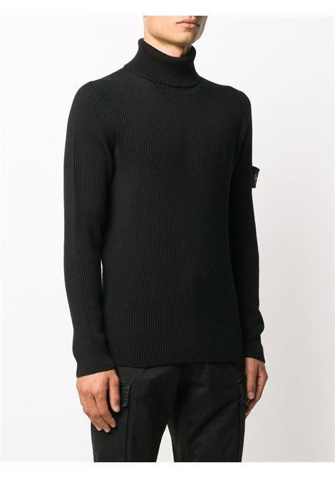 Black wool jumper featuring Stone Island logo patch  STONE ISLAND      7315522C2V0029
