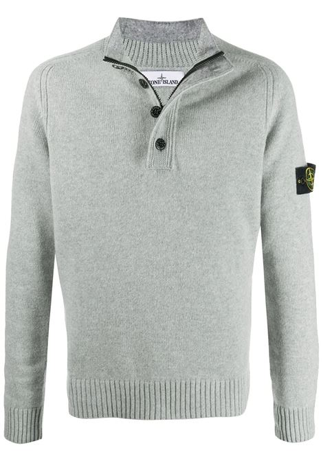 grey wool-blend jumper  featuring mock neck STONE ISLAND      7315532A3V0061