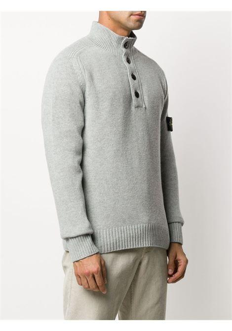 Maglia in misto lana grigia con collo a lupetto STONE ISLAND | Maglieria | 7315532A3V0061