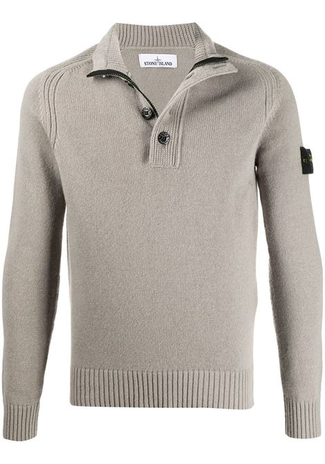 Grey wool-blend jumper featuring high neck STONE ISLAND |  | 7315532A3V0068