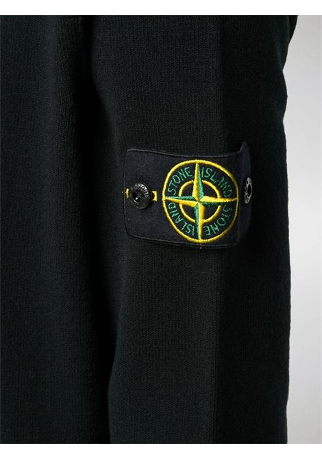 Black wool jumper featuring Stone Island logo patch at the sleeve STONE ISLAND |  | 7315591A1V0029