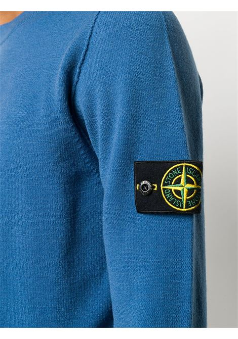 Blue wool-blend crew neck sweater  STONE ISLAND |  | 7315591A1V0043