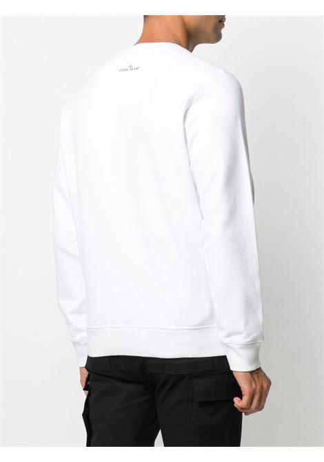 White cotton compass badge Stone Island logo sweatshirt  STONE ISLAND      731563094V0001
