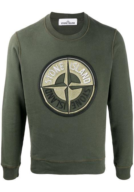 Green cotton compass badge Stone Island logo sweatshirt  STONE ISLAND |  | 731563094V0059