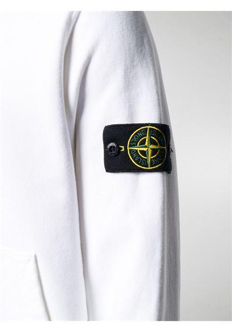 white cotton hoodie featuring drawstring hood STONE ISLAND      731564120V0001